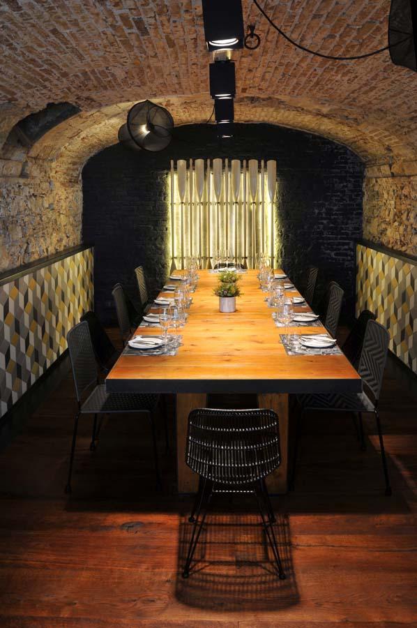 Suelos y paredes rusticos para restaurantes tono bagno - Restaurante l ostia ...