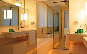 Tono Bagno Hotel Abac Barcelona baños de diseño hoteles bonitos