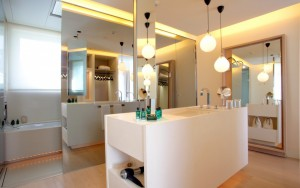 diseño baños Hotel Abac Barcelona, tono bagno