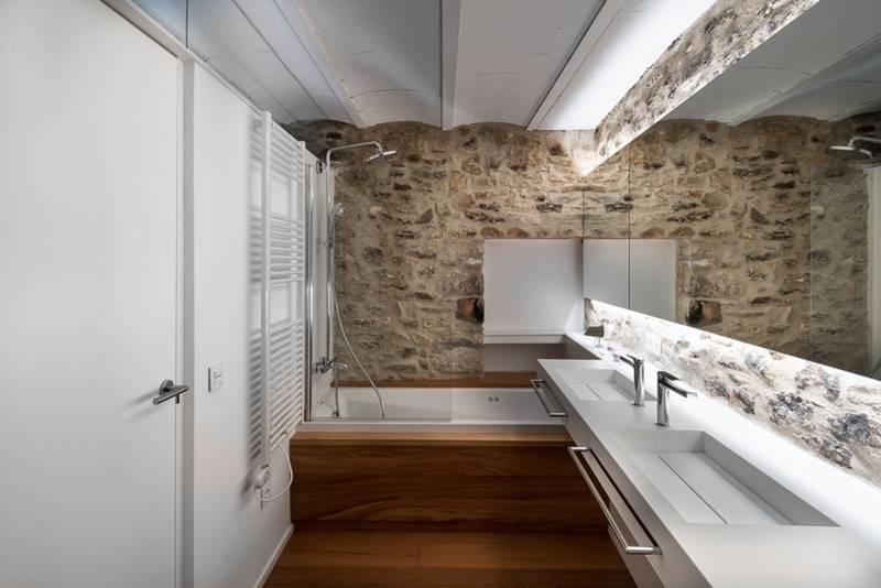 baños rusticos modernos  Tono Bagno