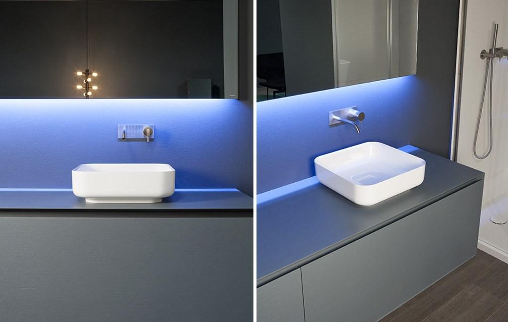 Antonio Lupi Bolo Lavabos de diseño sobre encimera cuadrado Tono Bagno Barcelona