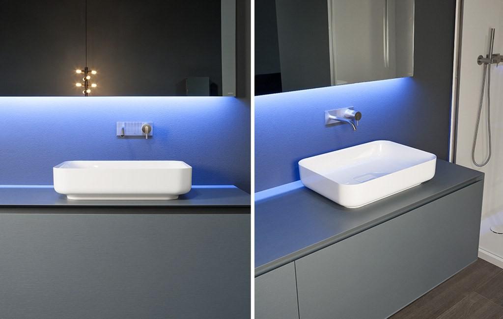 Antonio Lupi Bolo Lavabos de diseño sobre encimera rectangular Tono Bagno Barcelona