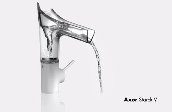 Griferia Hansgrohe Axor Starck V griferia de cristal grifo moderno Tono Bagno Barcelona