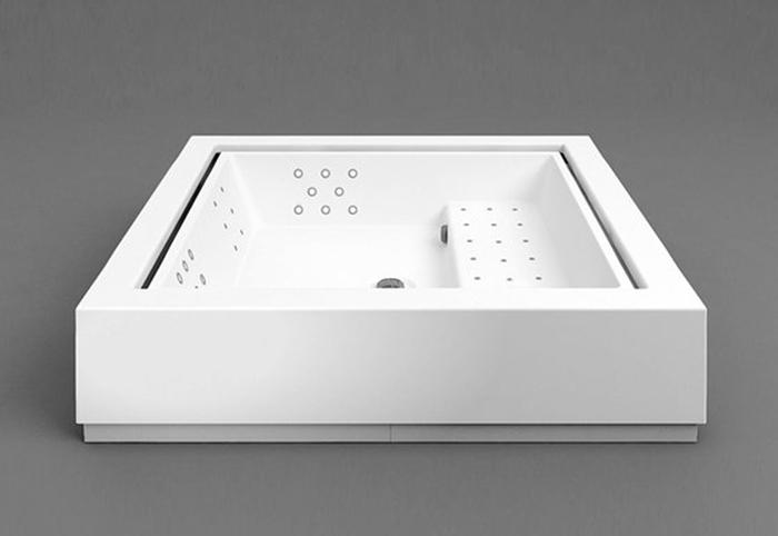 Kos - Quadrat Minipool - Minipiscina de diseño - Tono Bagno Barcelona