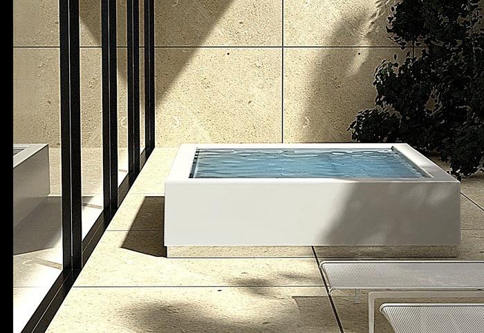 Kos - Quadrat Minipool - Minipiscina exterior interior - Tono Bagno Barcelona