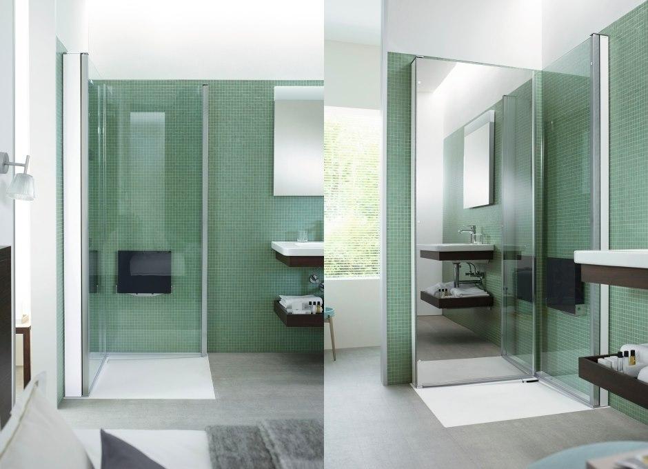 Mamparas para baño Open Space B Duravit, mamparas de ducha, tono Bango Barcelona