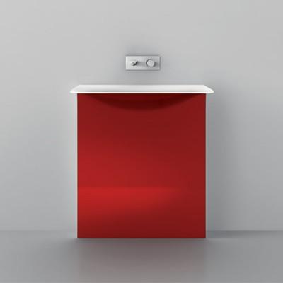 Milestone Teuco lavabos de diseño de pie rojo Tono Bagno Barcelona