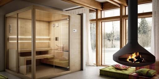 Sauna Arja de Teuco Sauna finlandesa de diseño minimalista Tono Bagno Barcelona