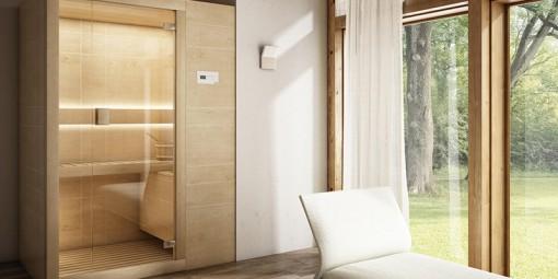 Sauna Arja de Teuco Sauna finlandesa de madera moderna Tono Bagno Barcelona