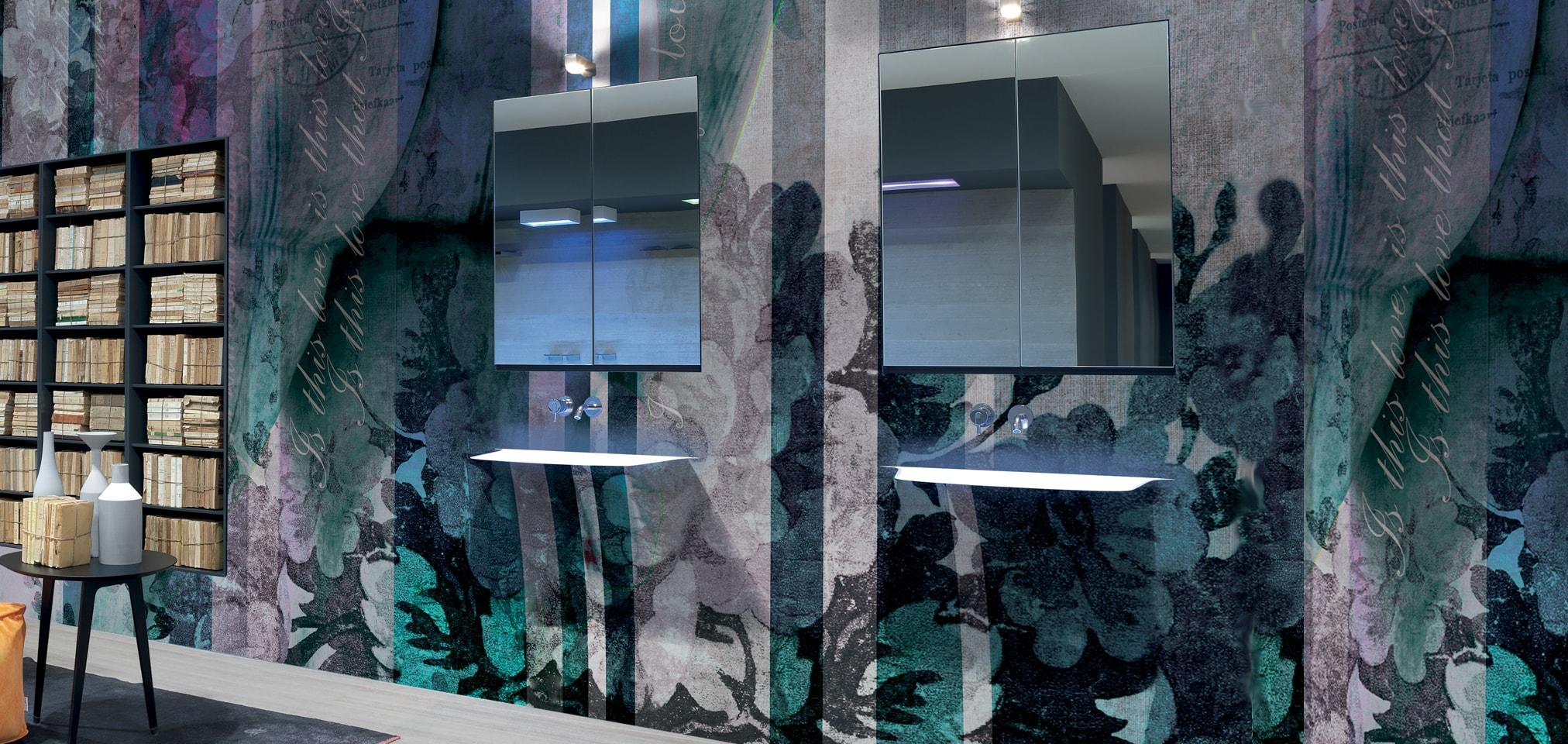 Soffio, lavabo lavamanos integrado en la pared, lavabo de diseño moderno, Tono Bagno Barcelona