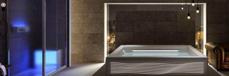 bañera hidromasaje con luz de Teuco