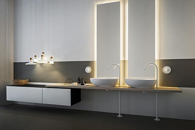 lato cabinets de Agape, armarios para baño, mobiliario para el baño, Tono Bagno, Barcelona