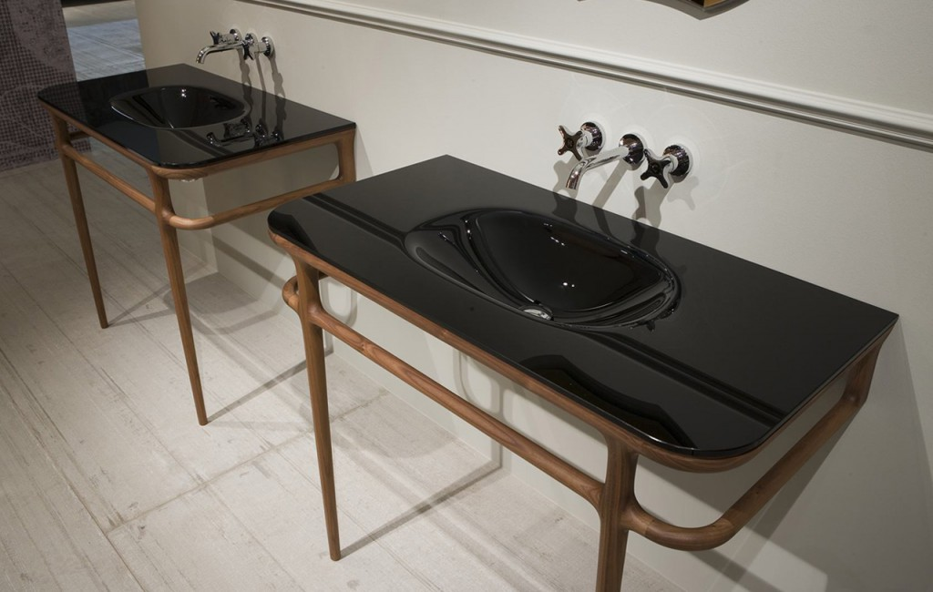 lavamanos negro de baño il bagno Antonio Lupi Tono Bagno Barcelona
