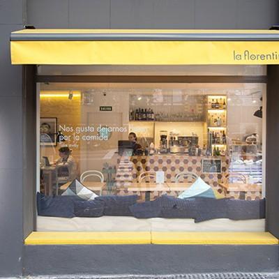 Los baños del restaurante La Florentina, Barcelona