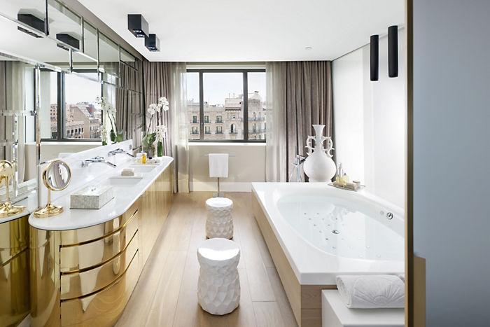 baños modernos para hoteles, tono bagno barcelona hotel mandarin