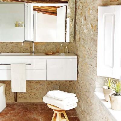 Baño de diseño rustico en vivienda particular Tono Bagno