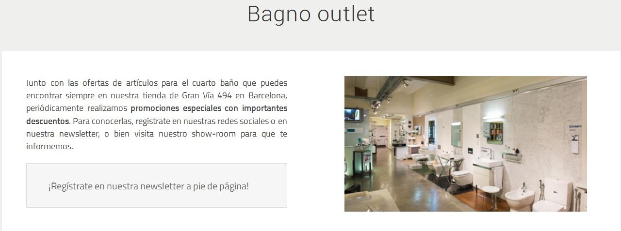 Outlet Baños de diseño, promociones baños
