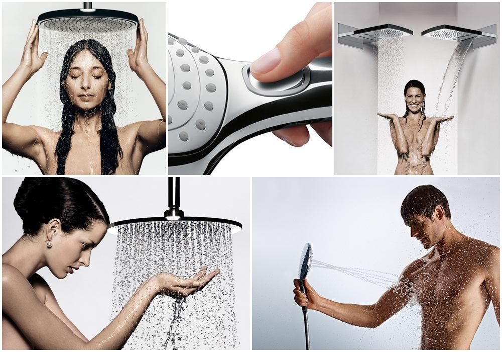 duchas modernas de diseño, duchas hansgrohe
