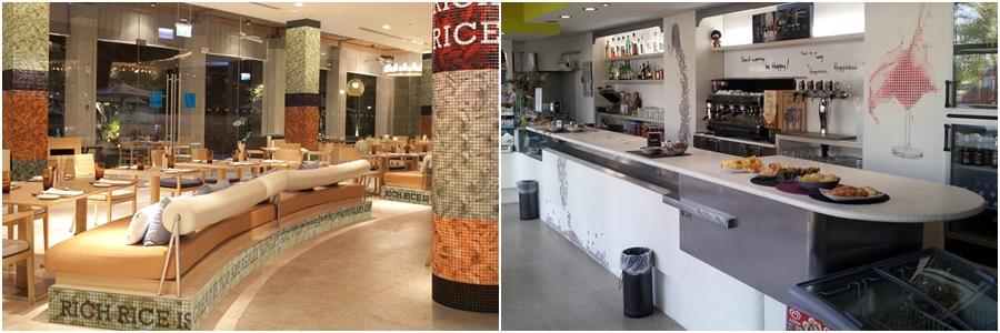 revestimientos mosaico digital para bares y restaurantes - MyMosaic - Tono Bagno, Barcelona