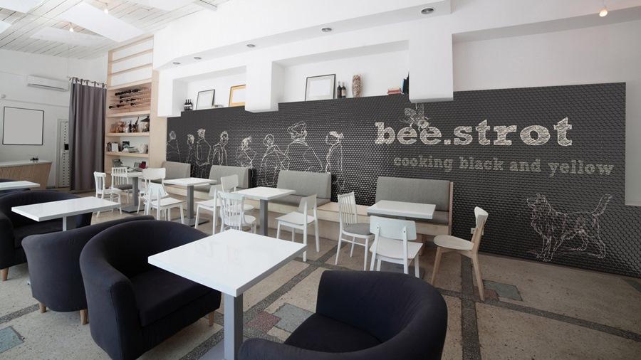 revestimientos modernos digitales para restaurantes, tono bagno barcelona