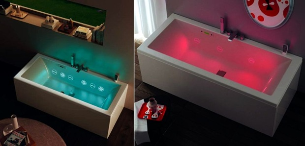 Hydromassage Hydroline by TEUCO, modern whirlpool bathtub, Tono Bagno, Barcelona
