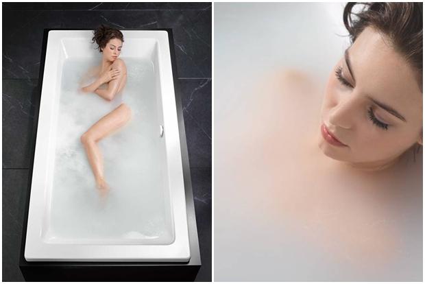 Hydromassage SKIN TOUCH by KALDEWEI, modern whirlpool bathtub, Tono Bagno, Barcelona