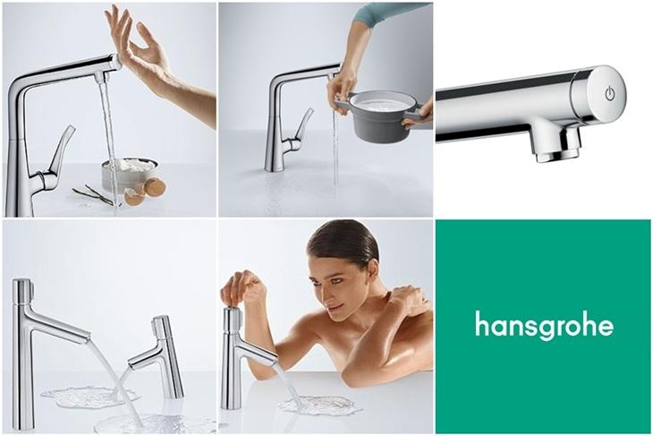 Griferia Hansgrohe Select, griferia moderna cocina baño, Tono Bagno Barcelona