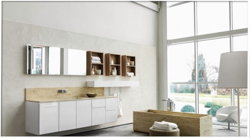 exposicion muebles baño barcelona, mobiliaro para el baño