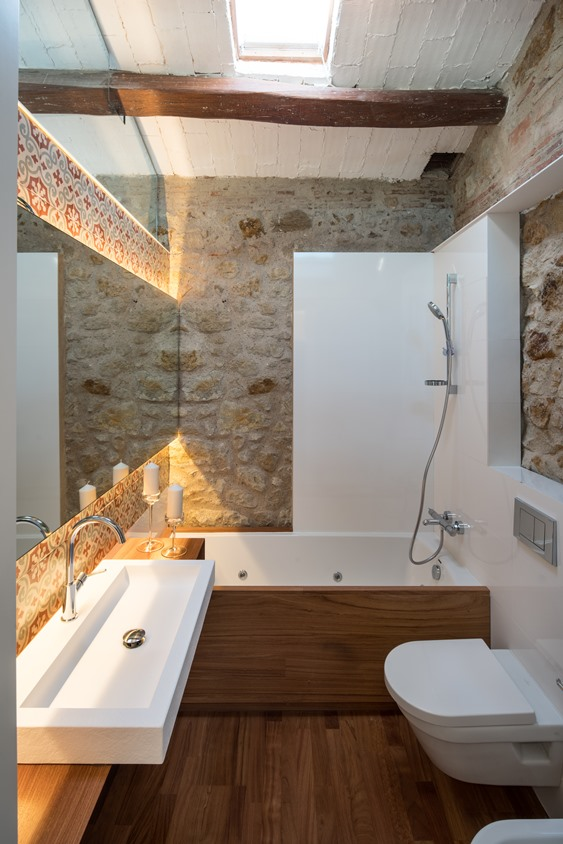 Dise o ba os rusticos para viviendas y casas tono bagno for Casa y diseno banos