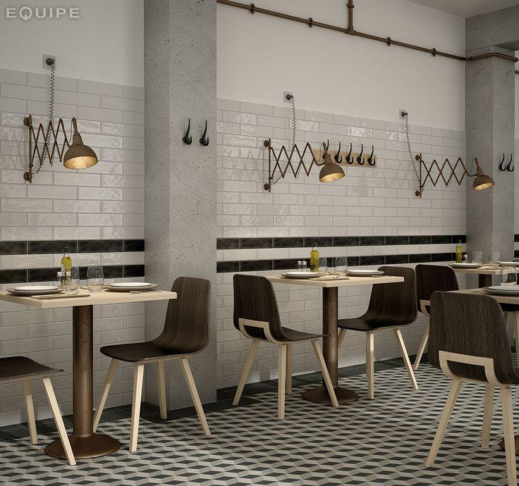 porcelanicos retro para interiores, paredes restaurantes