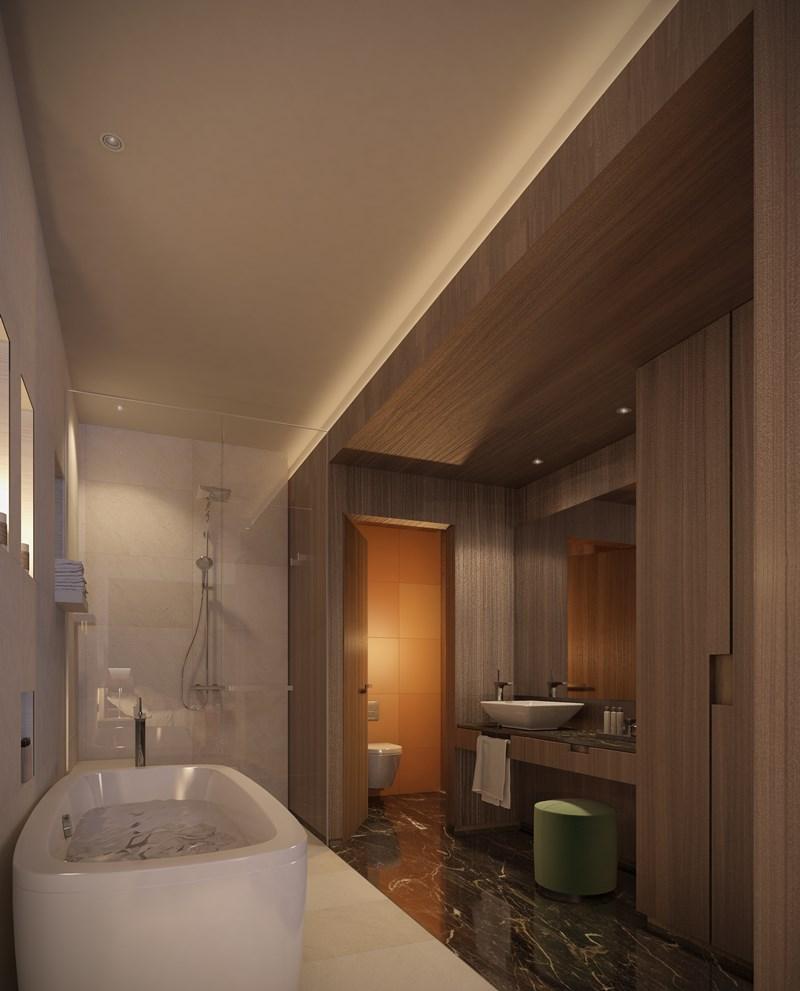 cuarto de baño standard del hotel kempinski, Republica del Congo, Tono Bagno, Barcelona
