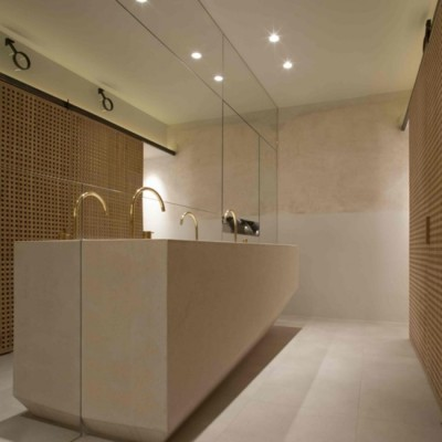 Baños, pavimentos y revestimientos restaurante La Bien Aparecida, Barcelona