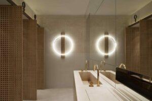 diseño baños restaurante