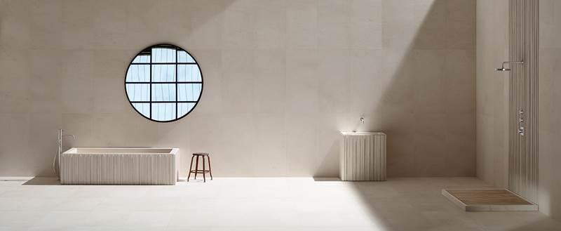 porcelanico gran formato, baños y muebles a medida en piedra natural, ALFREDO SALVATORI