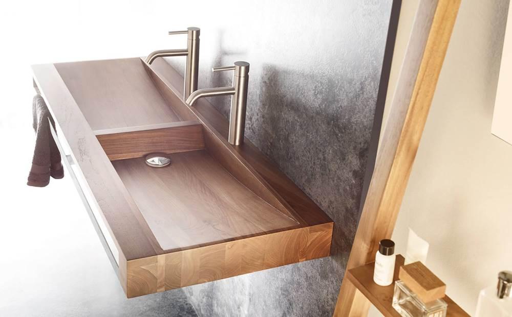 novedades baños modernos 2018, lavabo baño Wood Bathco