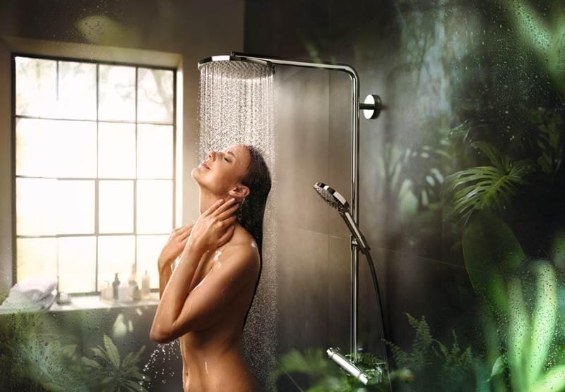 hansgrohe PowderRain para ducha de baño (1)