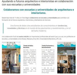 interioristas arquitectos de barcelona en Tono Bagno