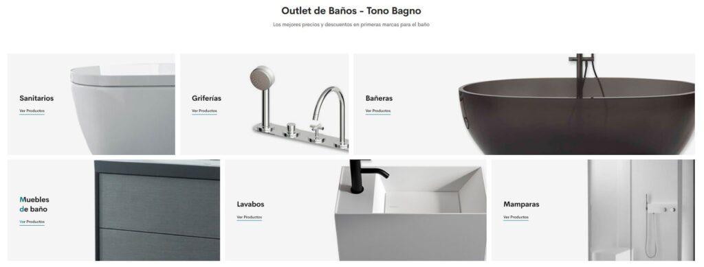 outlet de baños, ofertas baños, descuentos baños, tienda online baños