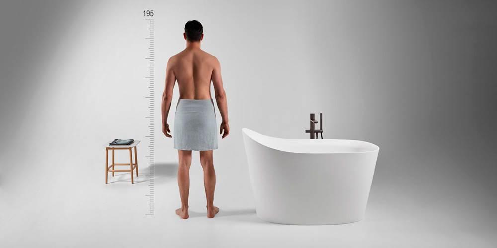 bañera pequeña, tendencias baños 2019
