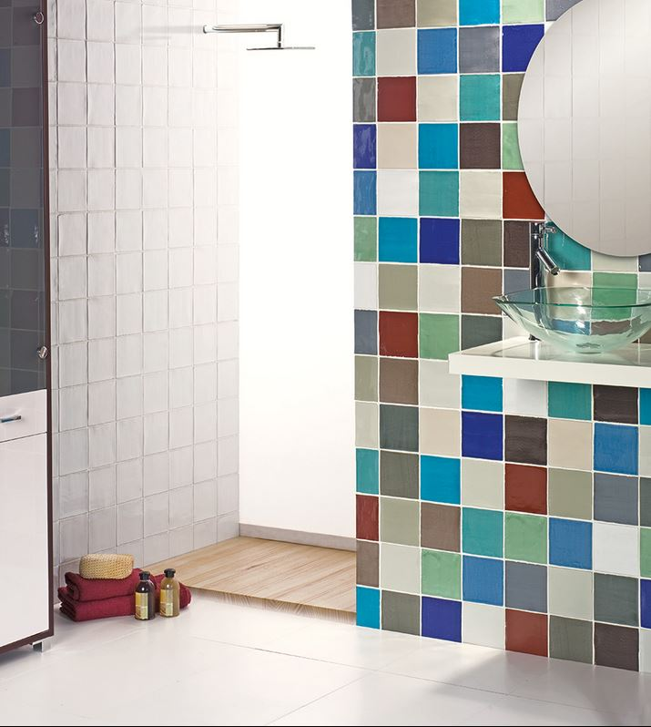 azulejos para baños rusticos