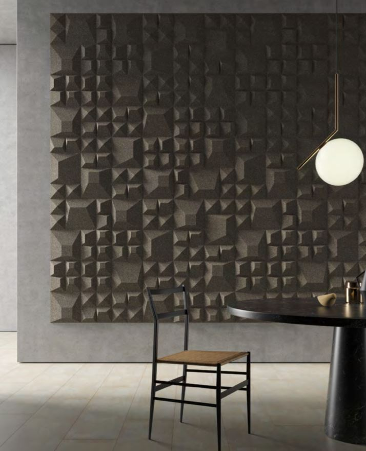 paredes 3 dimensiones 3d de corcho, paredes modernas de corcho, revestimiento moderno con corcho, revestimiento 3d corcho, granorte