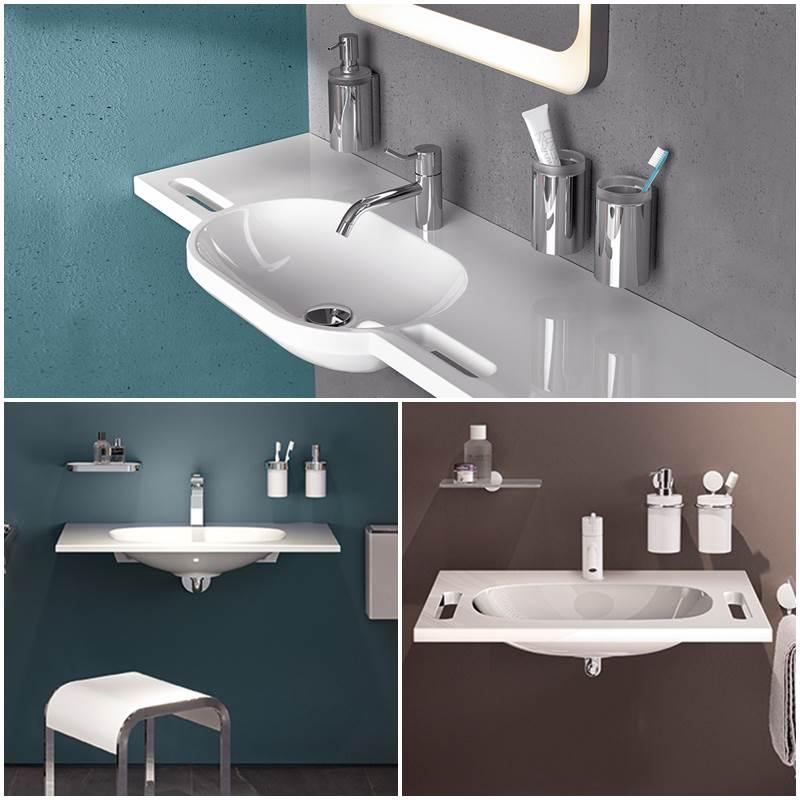 Lavabos accesibles HEWI, lavabos para discapacitados, lavabos para minusvalidos