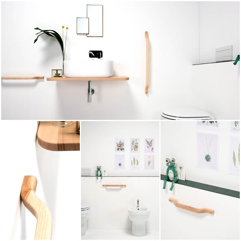 Toallero y barra plegable STYLE – EVER LifeDesign, toallero para baños discapacitados minusvalidos