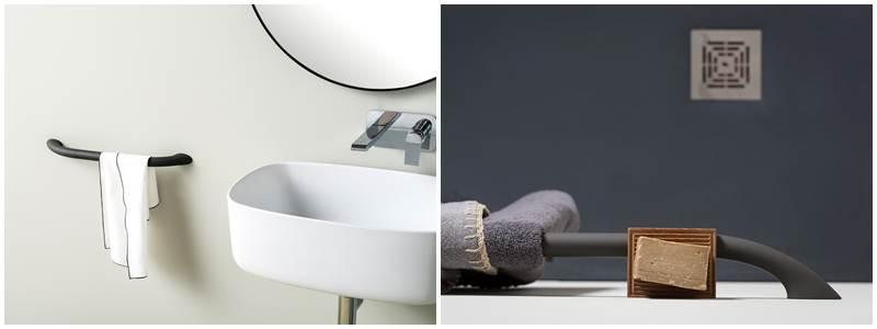 Toallero y barra plegable EVER LifeDesign, toallero para baños discapacitados minusvalidos