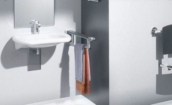 barra de apoyo y eguridad lavabo discapacitados minusvalidos