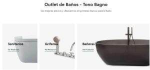 outletbaños, descuentos baños, tienda online baños