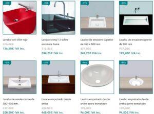 outlet lavabos, lavabos baratos, oferta lavabos