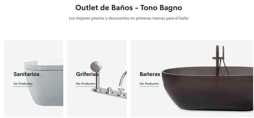 outlet de baños, outlet online baños, baños en oferta, baños baratos, descuentos baños