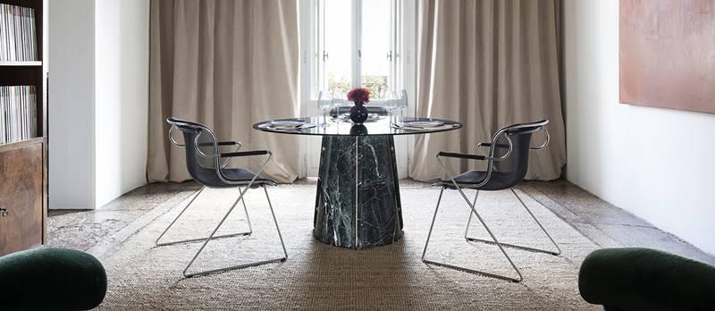mesas de marmol, novedades pavimentos y revestimientos 2021
